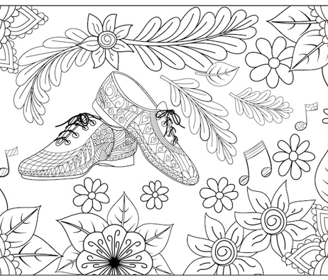 Jazz Shoes Colouring Pillowcase