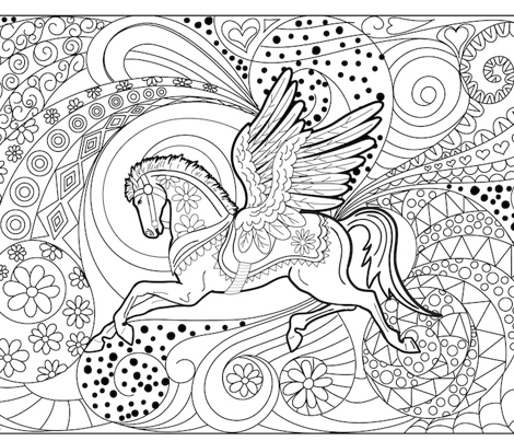 Pegasus Colouring Pillowcase