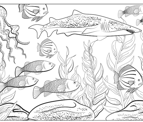 Underwater Colouring Pillowcase