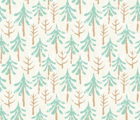 Winter Forest fabric by lidiebug on Spoonflower - custom fabric