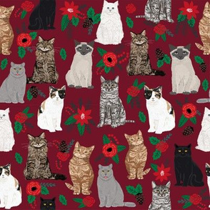 christmas cat fabric cat lover pet portraits christmas tree