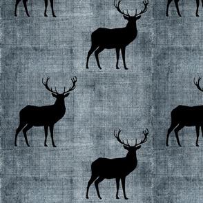 Buck on linen - grunge