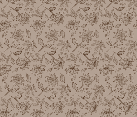 Vintage Poinsettias -04 fabric by diane555 on Spoonflower - custom fabric