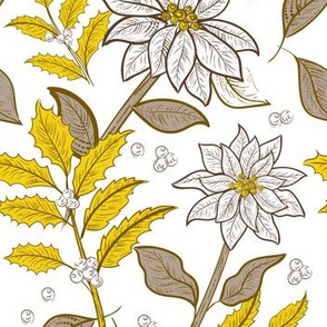 Pewter And Gold Poinsettias 9