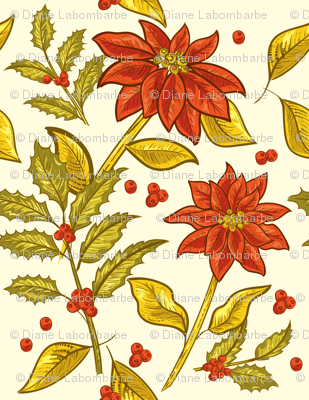 Vintage Poinsettias -09
