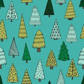 christmas trees // tree forest christmas kids cute holiday tree design nursery