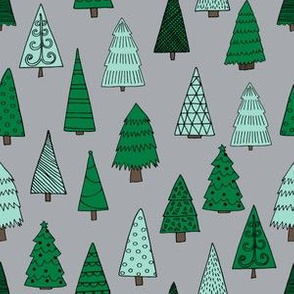 christmas trees // christmas tree forest nursery baby christmas xmas holidays kids cute holiday christmas fabrics