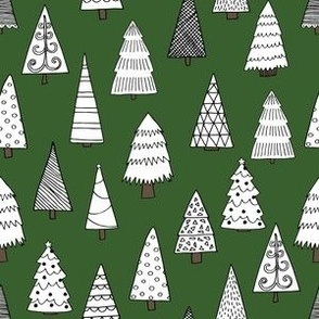 christmas tree // christmas trees forest cute xmas holiday christmas holiday andrea lauren fabrics andrea lauren design