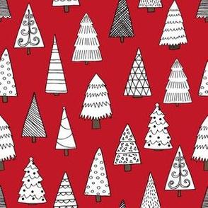 christmas tree // christmas fabrics christmas tree forest xmas holiday andrea lauren christmas fabrics