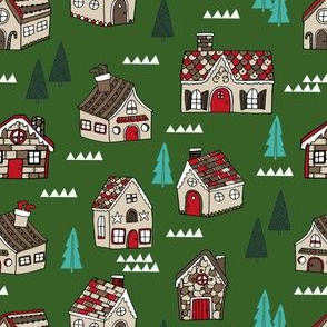 gingerbread house // gingerbread holiday fabric cute christmas design best gingerbread houses cute fabrics for xmas holidays