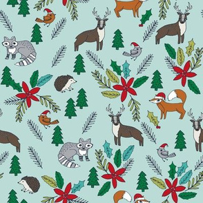 christmas woodland // forest woodland trees tree christmas fabrics andrea lauren