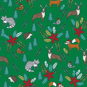 christmas woodland // cute xmas christmas fabric poinsettia fox cute kids andrea lauren