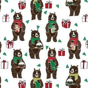 christmas bears // cute christmas fabric xmas holiday christmas design by andrea lauren