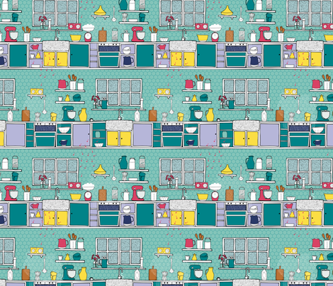 kitchenpopart fabric by karinka on Spoonflower - custom fabric