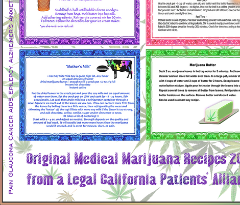 Medical Cannabis Recipes 12x12 fabric by camomoto on Spoonflower - custom fabric