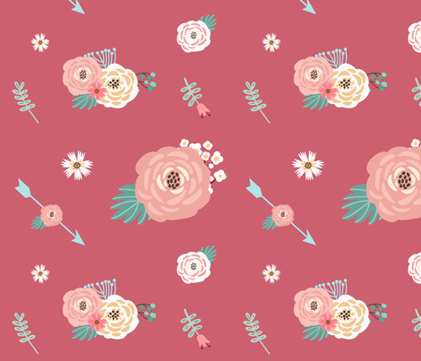 CoralCollage fabric by mrs_tomlin on Spoonflower - custom fabric