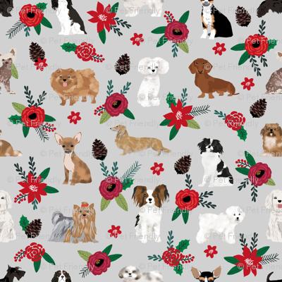 dog christmas florals cute dog design best poinsettias dogs cute dog fabrics best dog design florals