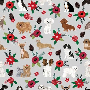 dog christmas florals cute dog design best poinsettias dogs cute dog fabrics best dog design florals