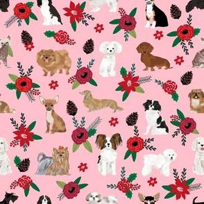 christmas dog florals cute dog design best dog florals cute dogs florals poinsettias christmas florals best dogs