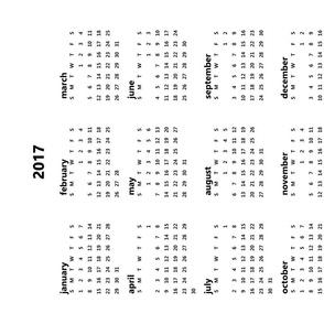 Blank Calendar 2017 (4 Panel)