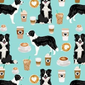 border collie coffee print cute border collie coffees best quilting dog fabric dog quilts cute border collies fabric