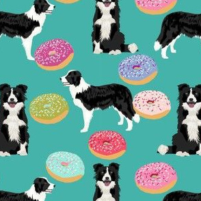 border collie dogs donut fabric cute donuts design cute border collies fabrics border collies fabrics