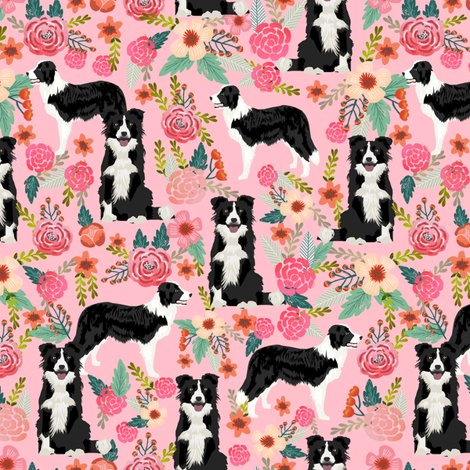 Rborder_collie_floral_pink_shop_preview