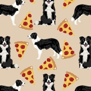 border collie pizza fabric cute tan neutral dog fabric best pizza fabrics cute dog fabric dog quilting design