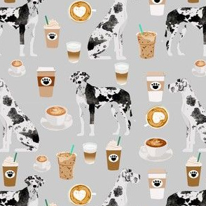 great danes and coffees fabric cute dog fabric for sewing projects quilting dogs fabric