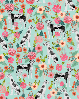 great dane florals cute floral flowers dogs fabric best dog breeds dog designs cute dog fabrics florals les fleurs fabric