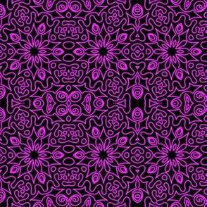 Neon Purple Spiky Flower Doodle