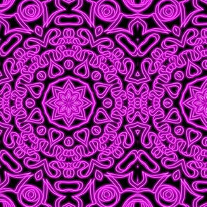 Neon Purple Flower Mandala Vibrational Doodle
