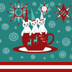 A_Christmas_Cup_of_kitties throw topper