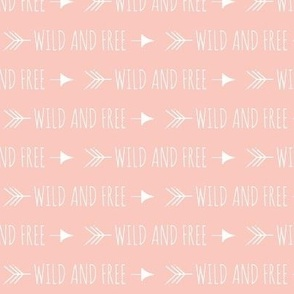Wild and free arrows - small scale - coral and pink