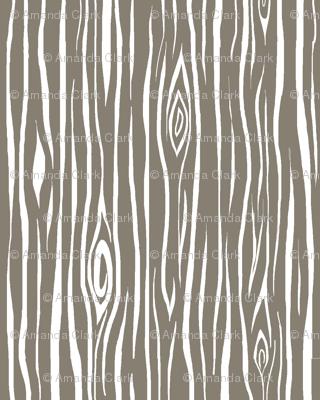 woodgrain small- dark taupe and white-