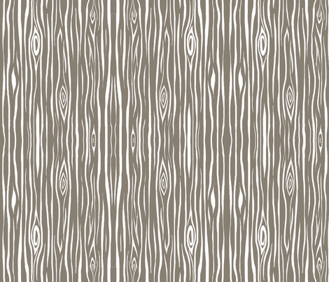 woodgrain small- dark taupe and white- fabric by sugarpinedesign on Spoonflower - custom fabric