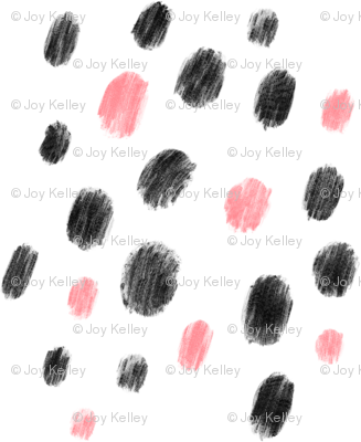 Pink and black dots - Big pattern