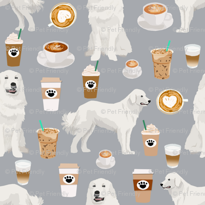 great pyrenees dog fabric cute coffees and dogs fabric best quilting fabrics great pyrenees dogs