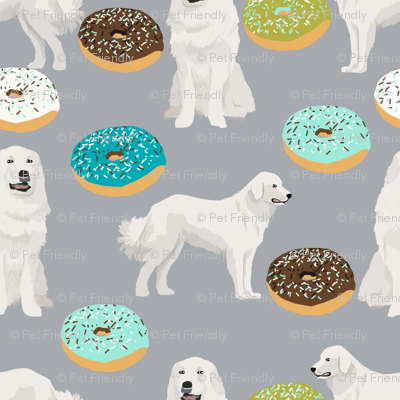 great pyrenees dogs fabric cute donuts fabric best great pyrenees fabrics for dog lovers cute dogs