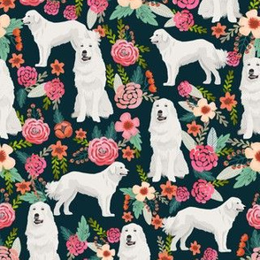 great pyrenees dog fabric cute vintage florals dog design best florals fabric for dog lovers cute florals fabric