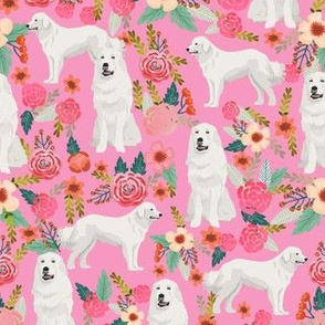 great pyrenees dog florals fabric cute dog design best florals fabric for dog owners cute pink florals fabric les fleurs fabric