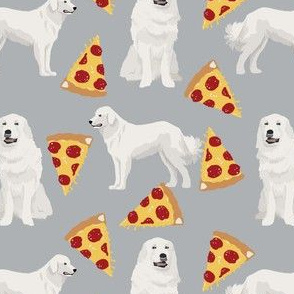 great pyrenees pizza fabric cute pizza design for dog lovers cute dog design best pizza fabrics dog dogs dog breeds