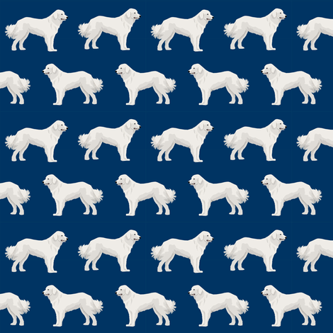 great pyrenees dogs fabric cute dogs best dog design for dog lovers great pyrenees fabrics fabric by petfriendly on Spoonflower - custom fabric