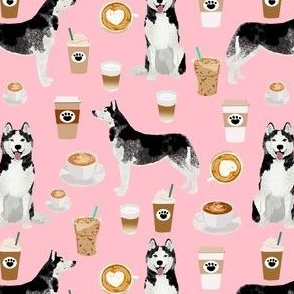 husky coffee fabric cute huskies design best siberian husky fabric cute coffees