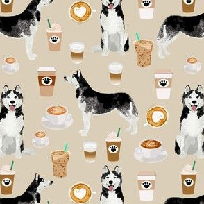 husky coffee fabric cute dog fabric best quilting fabrics cute huskies and coffees fabric best dog design cute dogs