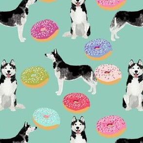 husky dog donuts fabric cute dog design best dogs fabric cute donuts fabrics
