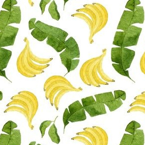 Bananas and Banana Leaves Pattern