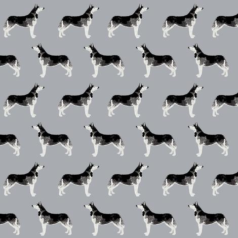 husky dog fabric cute huskies fabric best husky dog design cute grey dog fabric quilting dogs quilting dog fabric fabric by petfriendly on Spoonflower - custom fabric