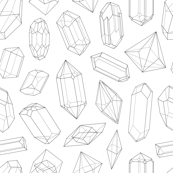 Crystals Seamless Pattern