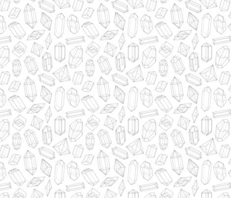 Crystals Seamless Pattern fabric by helga_wigandt on Spoonflower - custom fabric